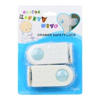 Wholesale 2pcs Cabinet Drawers Lock Baby Safety Refrigerator Helper Finger Guard Protector