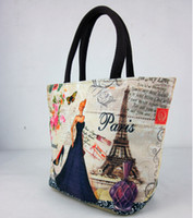 les femmes aimantes toile sac à lunch impression numérique glissière sac fourre-tout gadgets sac de transport sac 15 modèles en option