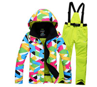 Wholesale new arrival ski suits women s jacket pants skiing jackets Sports Waterproof Windproof Breathable high quality