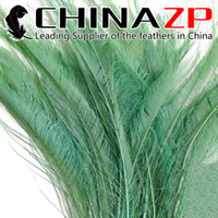 beautiful swords - Gold Supplier CHINAZP Crafts Factory cm inch Length Beautiful Aqua Green Bleached and Dyed Peacock Swords Cut Feathers