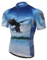 cycling jersey wholesale - New hot sale men cycling summer style jersey sets concept hawk print cycling polyester Breathable compressed quick dry cycling