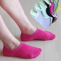 bamboo silica - Women Sock Slippers Summer Breathable Socks Bamboo Fiber Shallow Boat Socks Candy Women Socks With Silica Gel For Antiskid