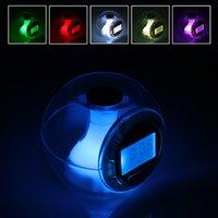 alarm clock natural - 2016 hot sale Transparent Multifunctional Calendar Alarm Clock with Color Changing Light and Natural Sounds WCS_486