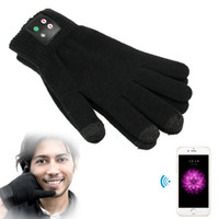 Wholesale Rechargeable Bluetooth Gloves Winter Touch Screen Sport Gloves Built In Microphone for Mobile Phones Men and Women