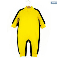 Wholesale Summer Spring Baby romper Bruce Lee Kung Fu Baby Toddler Boy Girl Grow Onesie Jumpsuit Outfit One Piece Track Suit M