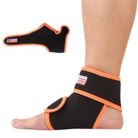 Wholesale 1PC Adjustable Neoprene Sports Fitness Gym Ankle Brace Support Protector Elastic Wrap Pad Guard Feet Care