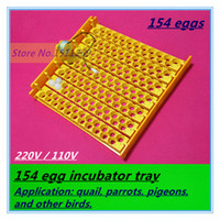 Wholesale 154 Bird Eggs Incubator tray Automatic Incubator Quail Pigeon Birds Incubator tray V V Yellow Incubators