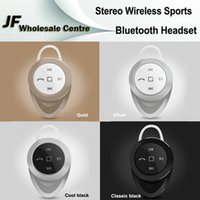 apple hd player - New A1 Mini V4 Bluetooth Headset Stereo Wireless Sport Universal Earphone HD Handsfree For iPhone6S Samsung Galaxy Smartphone Music Player