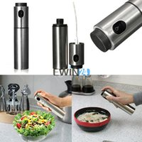 olive oil bottles - Olive Spray Pump Spraying Bottle Oil Sprayer Stainless Steel Silver Cooking Tools New Arrival Hot Selling