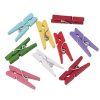 Wholesale Wood Photo Holder Clothespin Clips Note Pegs At Random mm x mm new