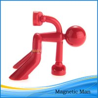 wall magnetic - Magnetic Man Key Holder Organizer Wall Refrigerator Mount Home Decor Red