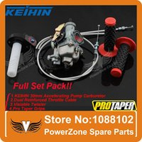 Wholesale KEIHIN mm PZ30 cc cc Carburetor Accelerating Pump Visiable Twister Dual Cable Pro Taper Grips IRBIS order lt no