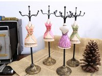 Earring jewelry doll stand - Mannequin Jewelry displays stand Rack organizer for sale Hot charm Gift poly painted Taille doll