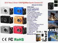 Wholesale Diving DV Sportscam MP Camera inch M Waterproof Surfing camera car bicycle recorder