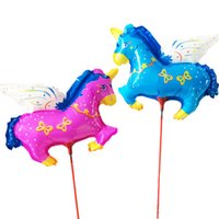 angels inflatables - HOT Angel Pegasus balloon with sticks AND cup inflatable air baloes for wedding baloons baby shower ballon decorating