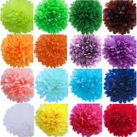 artificial tissues - 28 Colors Tissue Paper Pom Poms Artificial Flowers Fashion DIY Party Decoration Flower Ball Wedding Festive Supplies Promotion SK540
