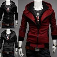 Wholesale Cosplay Sweaters - Hot Assassin's Creed 3 Desmond Miles Hoodie Costume Jacket Coat Cosplay Sweater