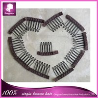 Wholesale wig accessories hair wig combs and clips for wig cap black and brown color