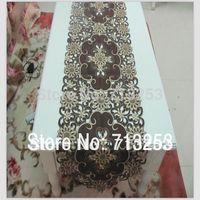 garden flag - Table Sofa Linens Brown Home Textile embroidered table runner table flag cm Home Garden