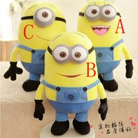 Wholesale Big Size inch cm Minions D Despicable Me Eyes Yellow Large Minion Doll Plush Stuffed Toys For Children Birthday Gift
