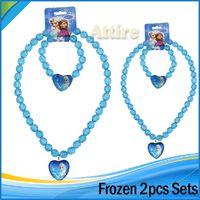 al por mayor bobber iluminado-De moda artículos nuevos niños de la joyería del collar de la Pricess congelados chicas encantos Elsa Anna collar pulsera colgante de regalo de cumpleaños