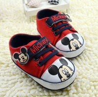 Wholesale Sell like hot cakes New Mickey mouse baby first walker shoes infant cartoon prewalker toddler shoes
