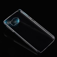 Wholesale Ultra thin Crystal Clear Hard Case For Samsung S7 S6 Edge Slim Transparent PC Plastic DIY Skin Back Cover for iPhone s Plus