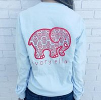 Wholesale Harajuku new women s summer casual tops tees ivory ella elephant long sleeve t shirt t shirts for women ladies
