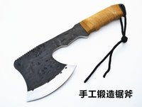 Wholesale 2014 newest hand forged steel ax ax utility vehicle with a saw indispensable tool for outdoor camping ax