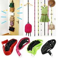 adjustable wall shelves - Hot Salw Best seller Straps Hanger Adjustable Over Door Hat Bag Clothes Rack Holder Organizer Hooks zk
