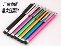 Wholesale Universal Stylus Touch Pen With Clip For iPod iPad cell phones iPhone S Plus Stylus Pen Capacitive Touch Screen pen