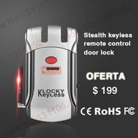Wholesale Europe keyless locks Stainless steel anti theft electric home door lock remote control lock glass door lock handle