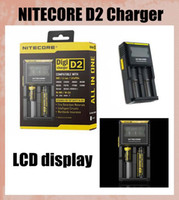 Wholesale Nitecore D2 Charger LCD Display Digicharger D2 Universal Intelligent Charger US UK EU AU battery Charger fit FJ138