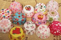 Wholesale DIY paper Cakecup liners baking cup muffin cases Christmas Wedding Party Birthday soap decorating tool