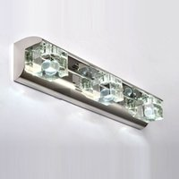 apple boxs - W LED Washroom Crystal Bathroom wall lights Laser inside Apple Design Jewel Boxs Crystal Mirror Front Wall Lamp Light