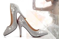 Cheap Cheap Luxury New Arrival 2015 Wonderful Wedding Bride Shoes 9 cm High-heeled Prom Evening Party Shoes FWY-10