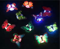 Wholesale Hot LED Stick Butterfly Night Lights Colorful Shiny Flashing Romantic Lighted Toys for Christmas Birthday Party cm cm with retail box