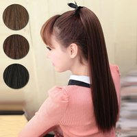Wholesale Women Big Horsetail Synthetic New Clip in Ponytail Hairpiece Hair Extension Hair Piece Pony human love L04025