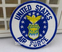 air force patches lot - 7 cm United STATES AIR FORCE iron on patches biker patch for clothing applique Embroidered vest badge
