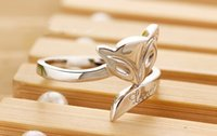 Asian & East Indian fire fox - 2015 new arrival fox Ring white gold plating high quality opening fire fox ring factory direct sale charm Jewelry gift ring for girls