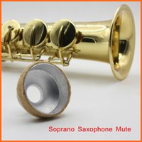 Wholesale High Quality Saxophone Mute Saxophone Silencer for Soprano Saxophone Sax Metal Dampener Light weight Aluminum Material