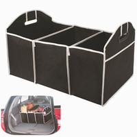 Wholesale Home Car Seat Organizer Trash Bin AUTO Trunk Cargo Collapsible Storage Black Folding Zakka Boxes Sundries For Organiser Box