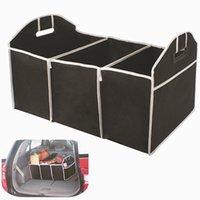 auto storage bins - Home Car Seat Organizer Trash Bin AUTO Trunk Cargo Collapsible Storage Black Folding Zakka Boxes Sundries For Organiser Box