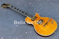 Wholesale handmade guitar handmade Supreme style AAA flame maple top electric guitars customize logo for free