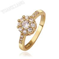 Wholesale Eropa dan Amerika Ekspor high end perhiasan grosir K berlapis emas cincin pasangan korea laris hadiah kecil