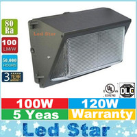 LED ac pack - UL DLC Approve Outdoor LED Wall Pack Light W W Industrial Wall Mount LED Lighting Daylights K AC V With Mean Well Driver