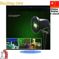 Wholesale Outdoor Laser Stage Lights Firefly Landscape Red Green Projector Garden Sky Star Lawn Lamps remote control Xmas Decoration lights