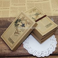Wholesale Hardcover Notebook Pastoral Countryside Vintage Cover Three Folding Travelers Diary Notebooks And Journals In School Supplies