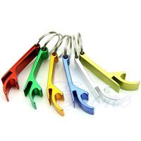 Wholesale 1pc Pocket Key Chain Beer Bottle Opener Claw Bar Small Beverage Keychain Ring