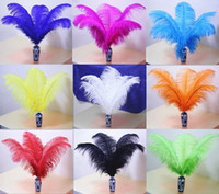 Wholesale 100pcs cm inch Dyed color mix fluffy ostrich feathers plumeswedding party home decoration for table bulk sale